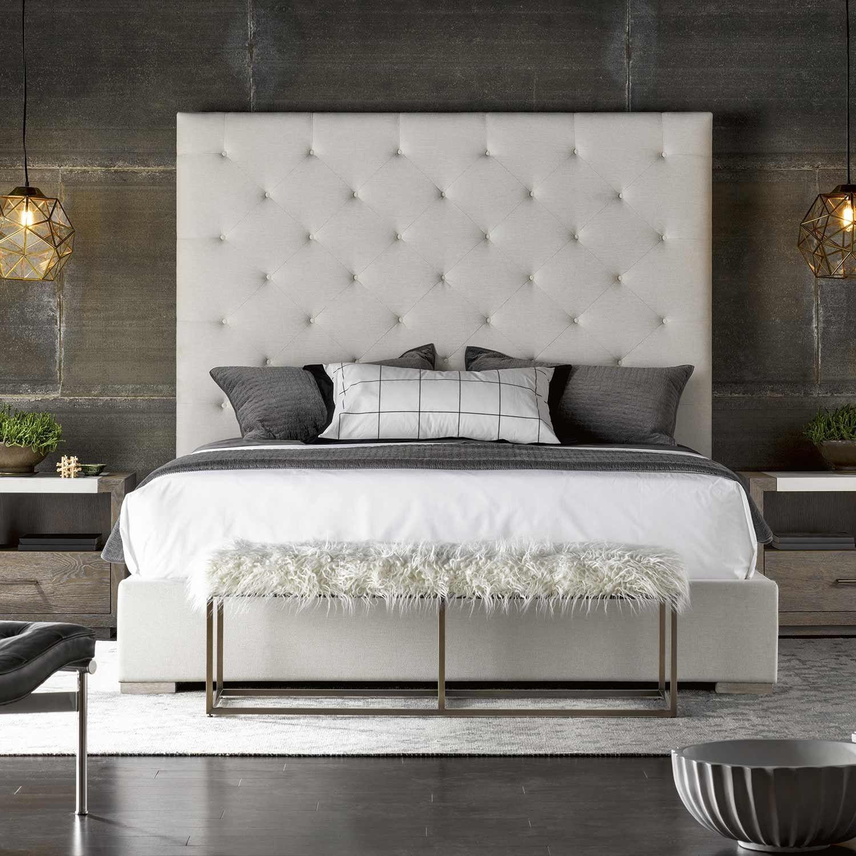 Modern Brando Fabric Upholstered Bed In Quartz Upholstered Beds Bedroom Design Fabric Upholstered Bed