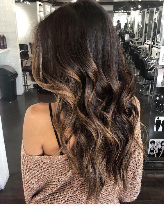 68 Incroyable tendance des reflets caramel des cheveux bruns –  68 Incroyable te…