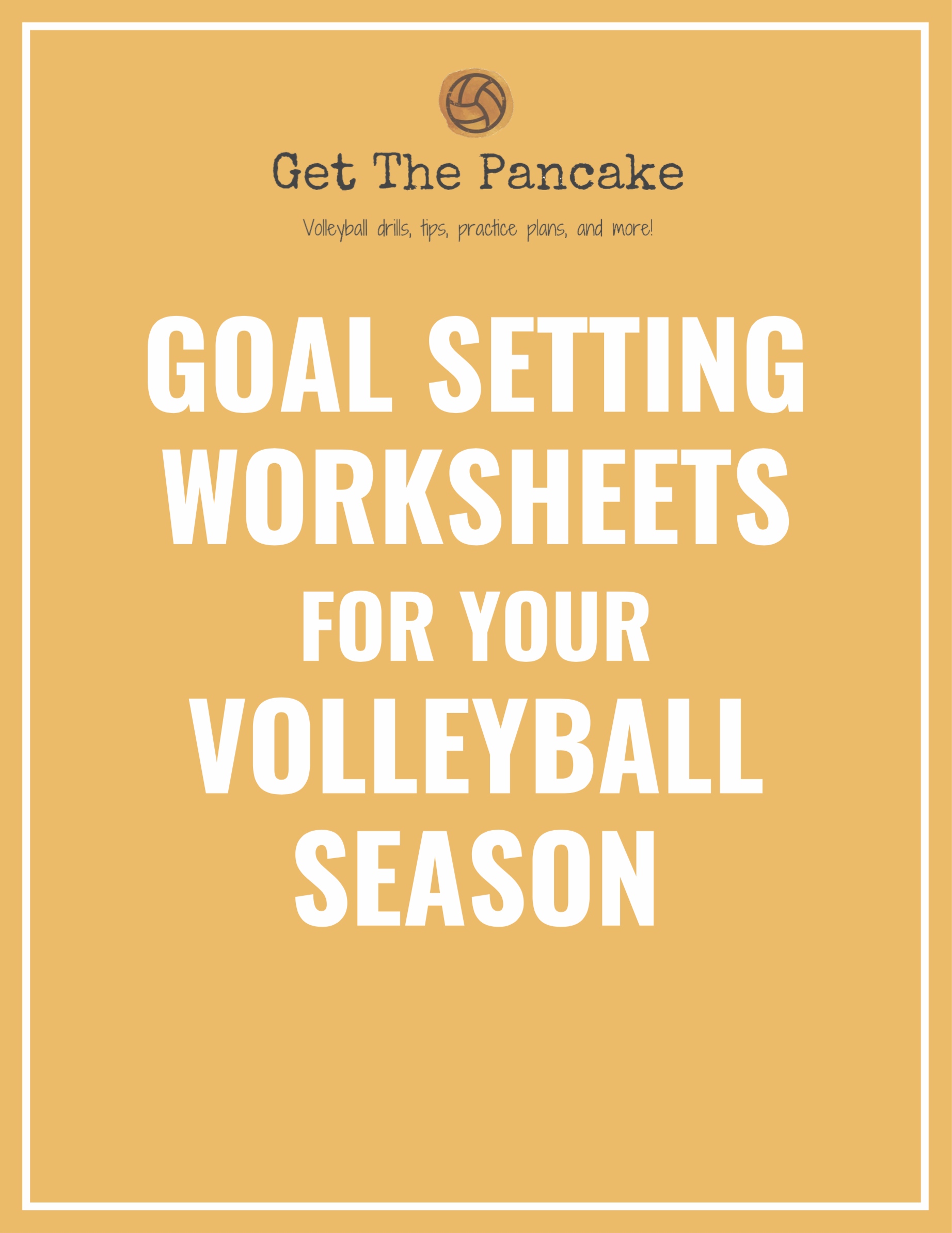 Volleyball Goal Setting Packet