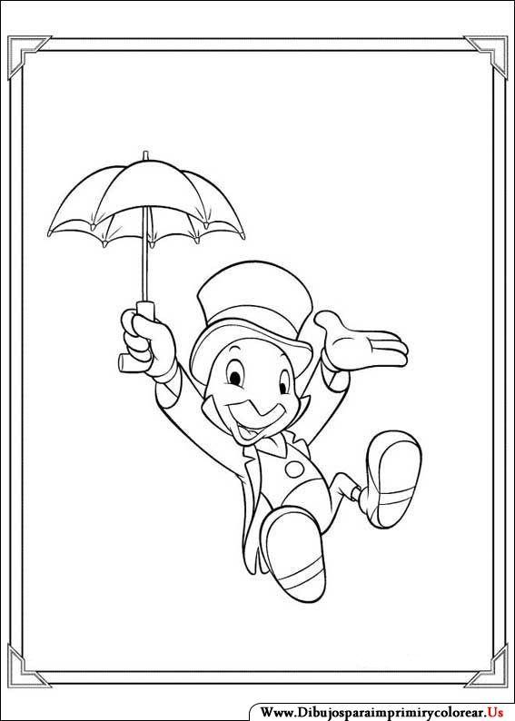 Dibujos de Pinocho para Imprimir y Colorear  pinocho  Pinterest