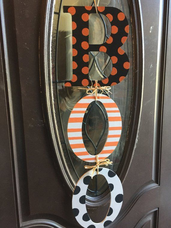 Super cute Halloween Decor BOO DOOR HANGER, Halloween Door Decor