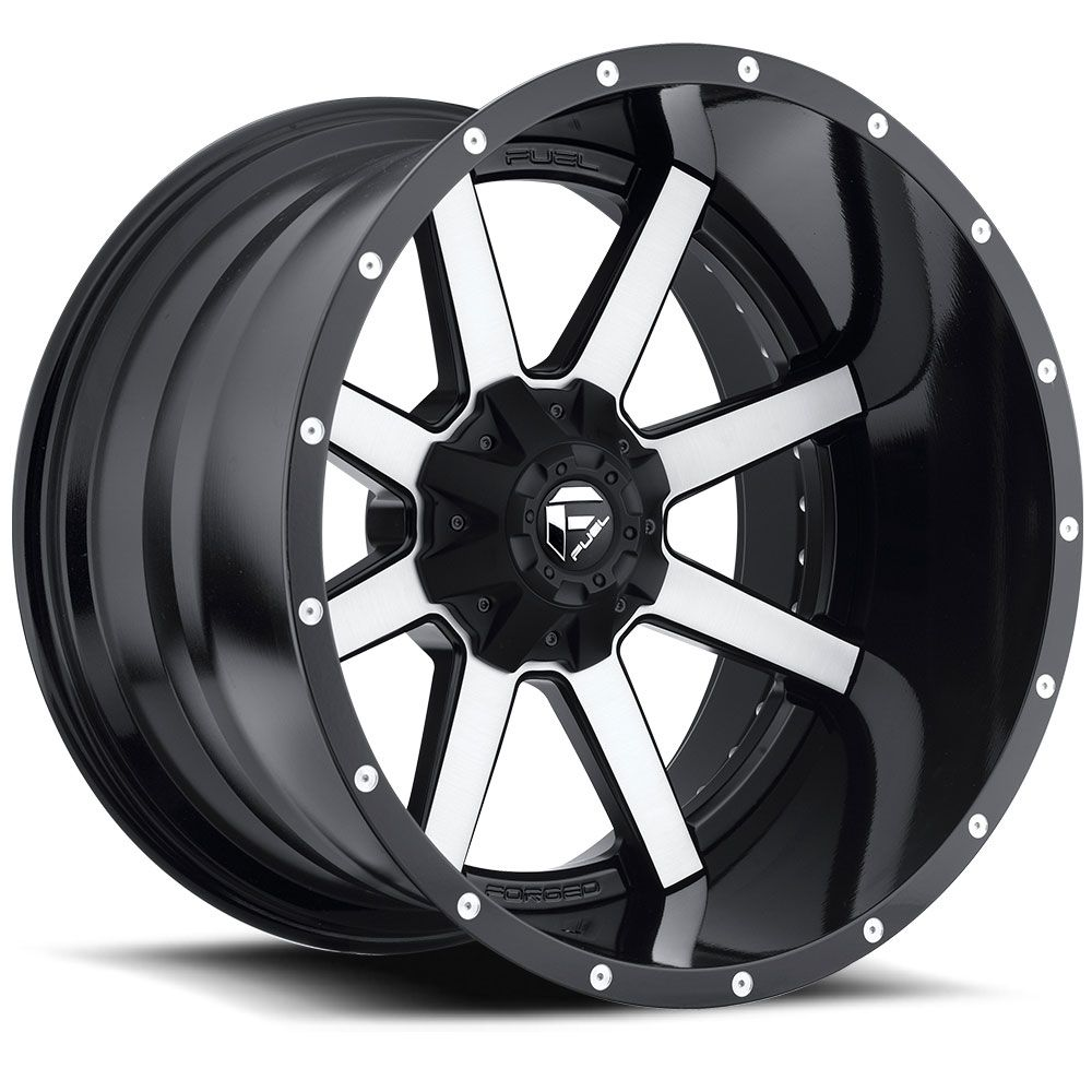 D261 maverick black machined fuel off road wheels