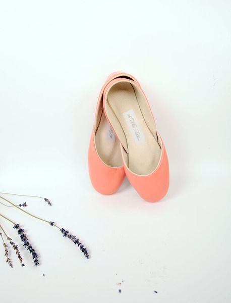 official photos 539e2 a70bd Ballerinas aus weichem Leder. Coral. Gr. 37. | fashion fun ...