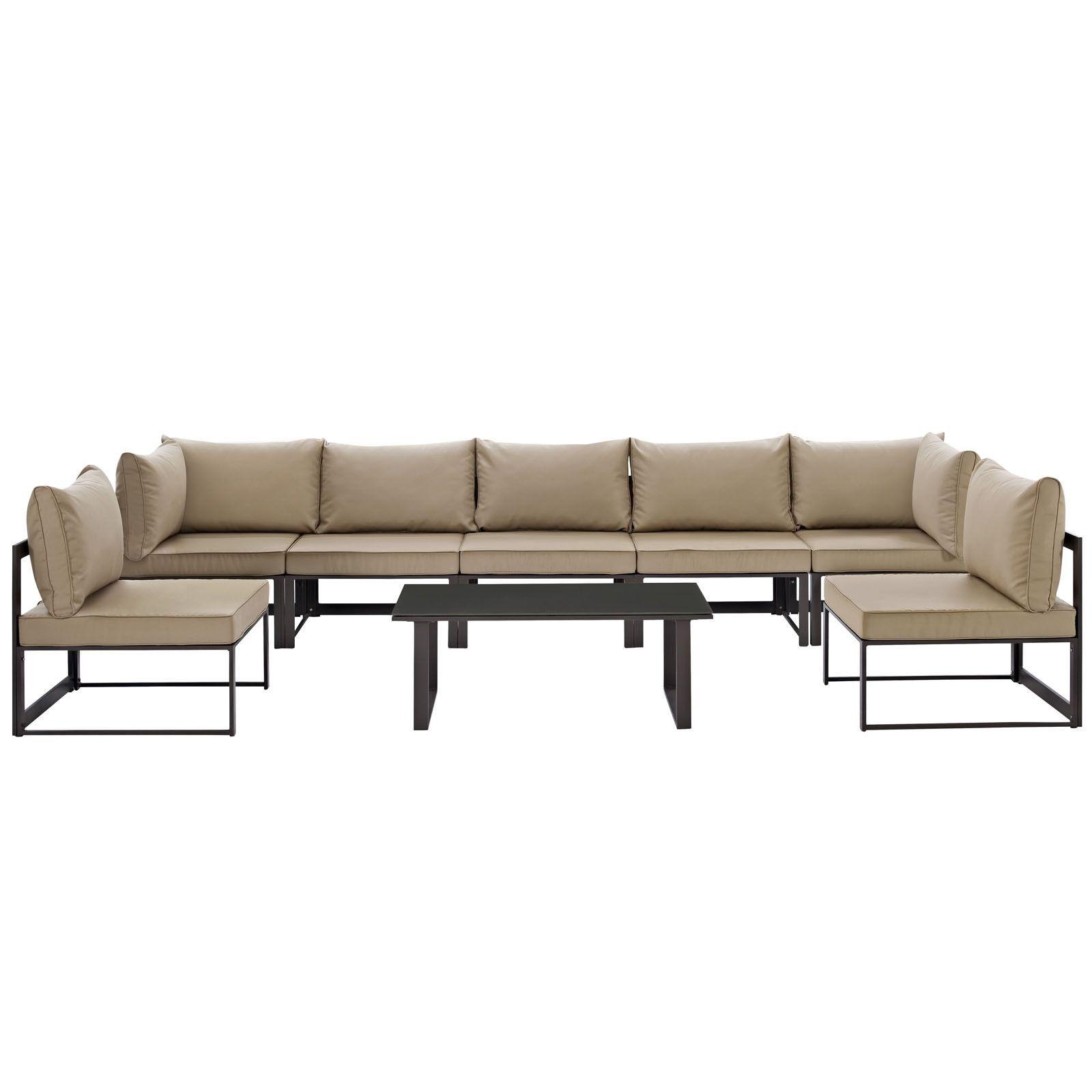 Fortuna 8 Piece Outdoor Patio Sectional Sofa Set at Harvey