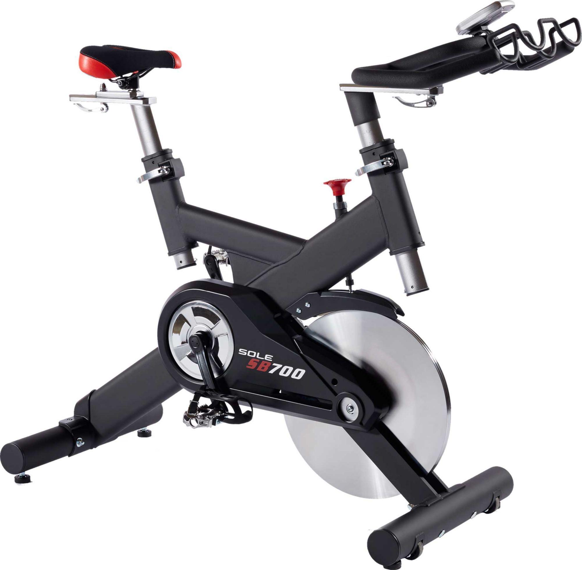 Sole Sb700 Indoor Cycle Grey Recumbent Bike Workout Exercise