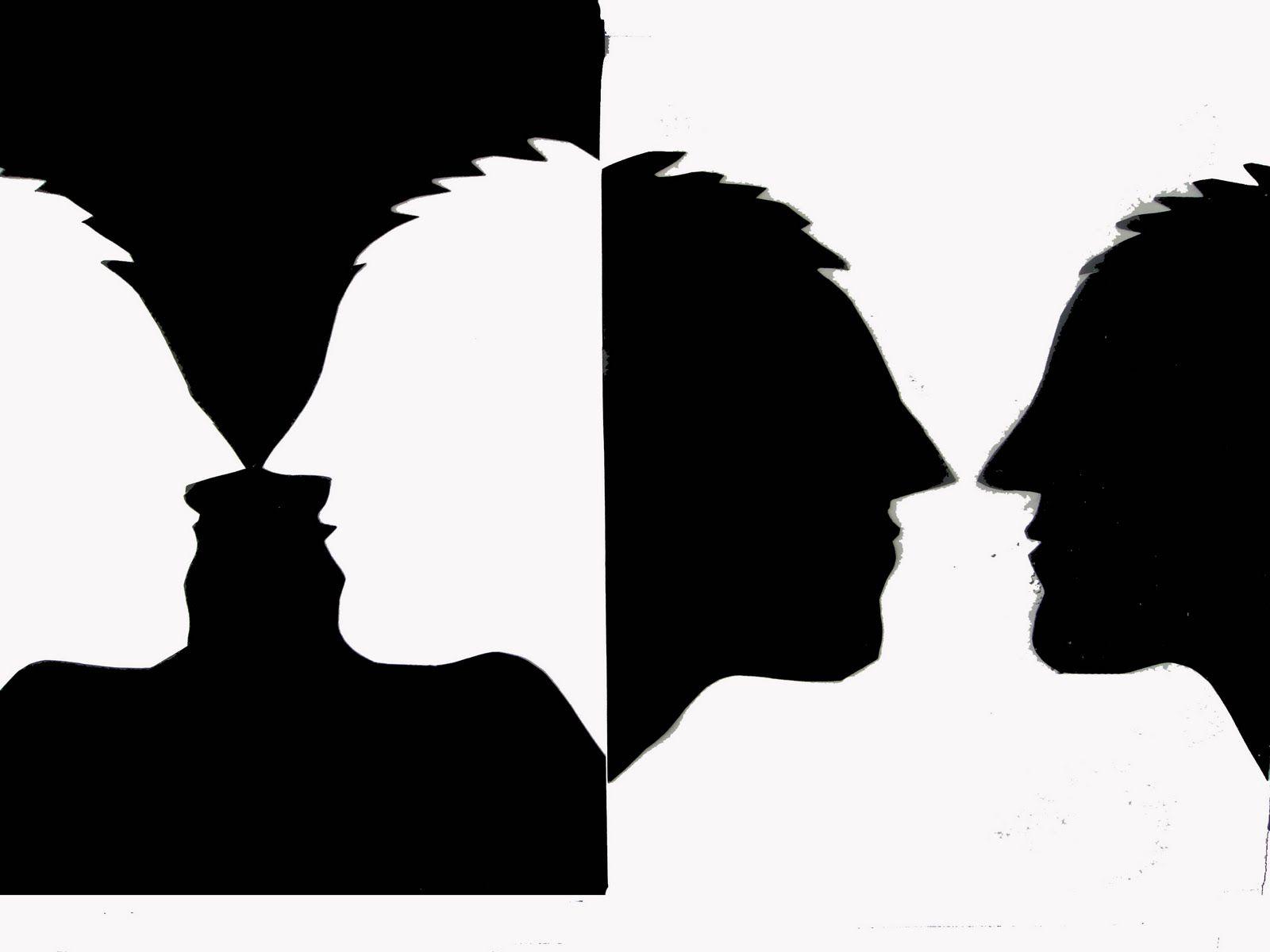 Las Dos Imágenes Se Complementan Según La Ley De Percepción De Fondo