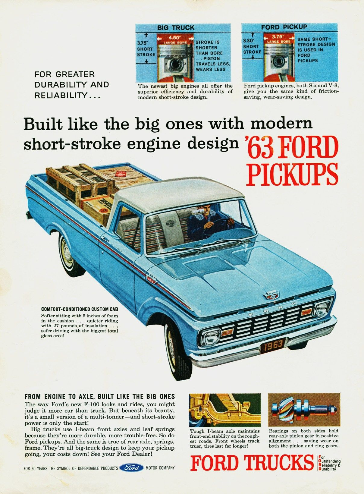1963 Ford Truck Ad 01 Ford Truck Ads Pinterest Ford Trucks
