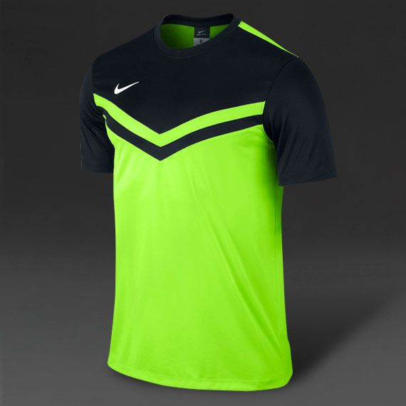 Nike Victory II SS Football Shirt - Grn-Blk-Wht | Football, Soccer ...