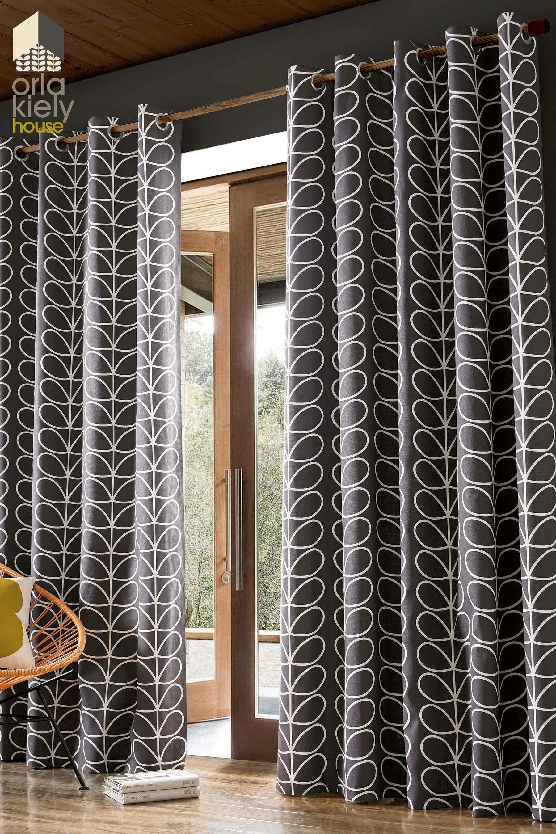 Buy Orla Kiely Linear Stem Curtains From The Next Uk