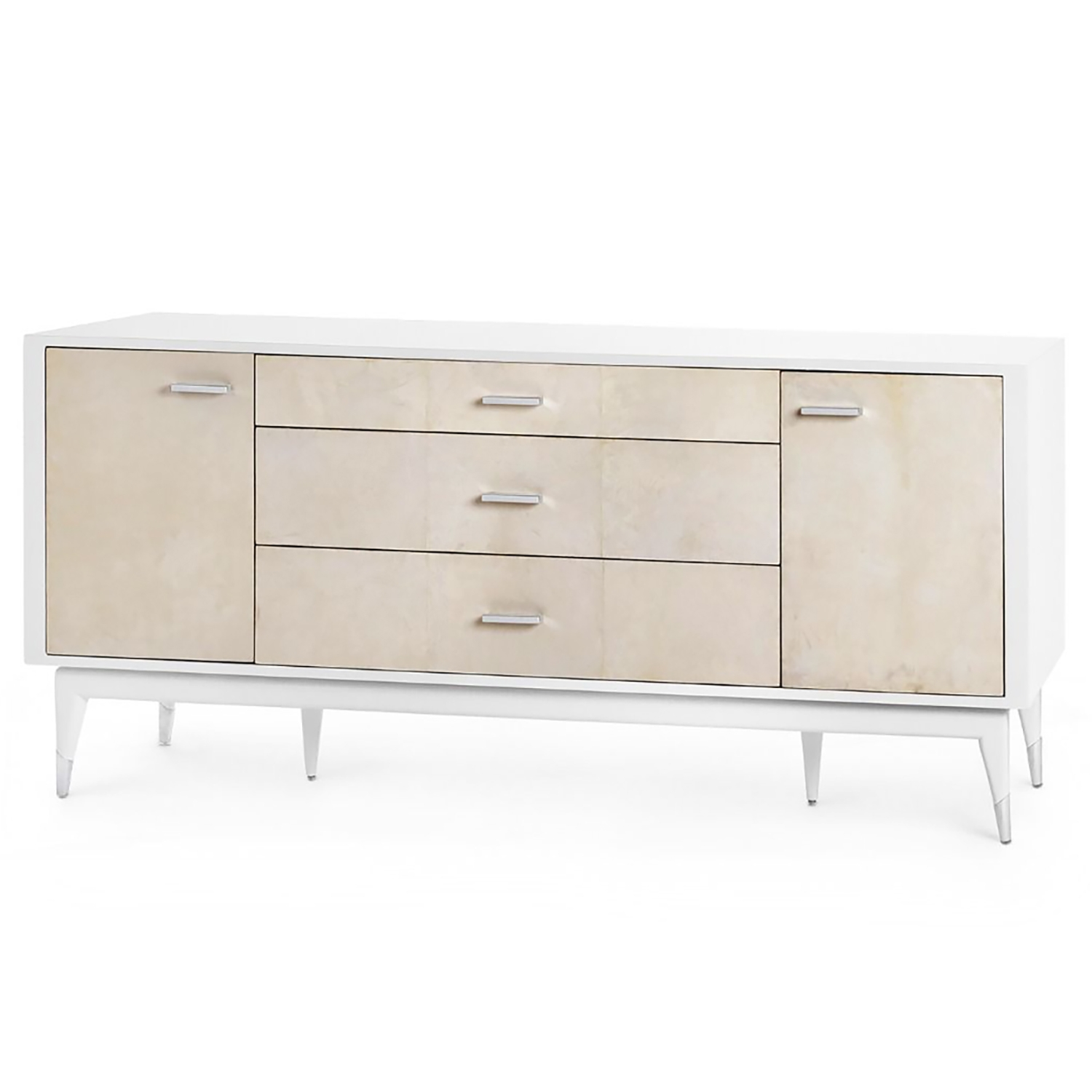 Bungalow 5 Tommi 3 Drawer 2 Door Cabinet   White