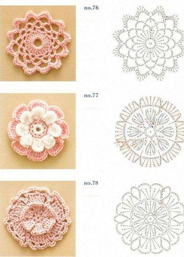 Hermosos Patrones De Flores A Crochet Faciles De Hacer Flores Tejidas A Crochet Flores A Crochet Tejidos A Crochet