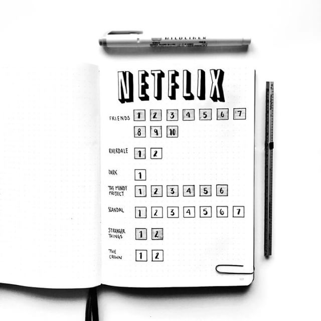 Something I have meant to do for a while is to create a Netflix tracker. I finally got around to it! I am quite pleased with how it turned out. ⠀⠀⠀⠀⠀⠀⠀⠀⠀ ⠀⠀⠀⠀⠀⠀⠀ Question: What is your favorite show on Netflix?⠀⠀⠀⠀⠀⠀⠀⠀⠀ ⠀⠀⠀⠀⠀⠀⠀⠀⠀ ⠀⠀⠀⠀⠀⠀⠀⠀⠀ ⠀⠀⠀⠀⠀⠀⠀⠀⠀ ⠀⠀⠀⠀⠀⠀⠀⠀⠀ ⠀⠀⠀⠀⠀⠀⠀⠀⠀ ⠀⠀⠀⠀⠀⠀⠀⠀⠀ ⠀⠀⠀⠀⠀⠀⠀⠀⠀ ⠀⠀⠀⠀⠀⠀⠀⠀⠀ #bujo #bulletjournal #journal #bulletjournaljunkies #theelephantsmemory #bulletjournalspread #leuchtturm1917 #bulletjournallove #minimalistbujo #artjournaling #stationeryaddict #bujojunkies…
