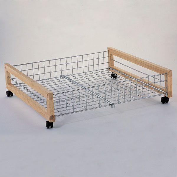 Metal Underbed Storage Rack With Casters