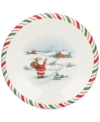 Kathy Ireland Once Upon A Christmas Salad Plate Available At Macys Com Inspired By Cherished Family Christmas Salad Plates Christmas Dinnerware Kathy Ireland