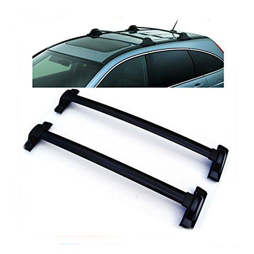 For 2007-2011 Honda CRV Black Roof Top Rail Rack Cross Bars Carrier