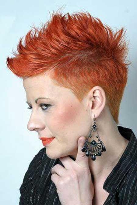 Tagli capelli corti color rame
