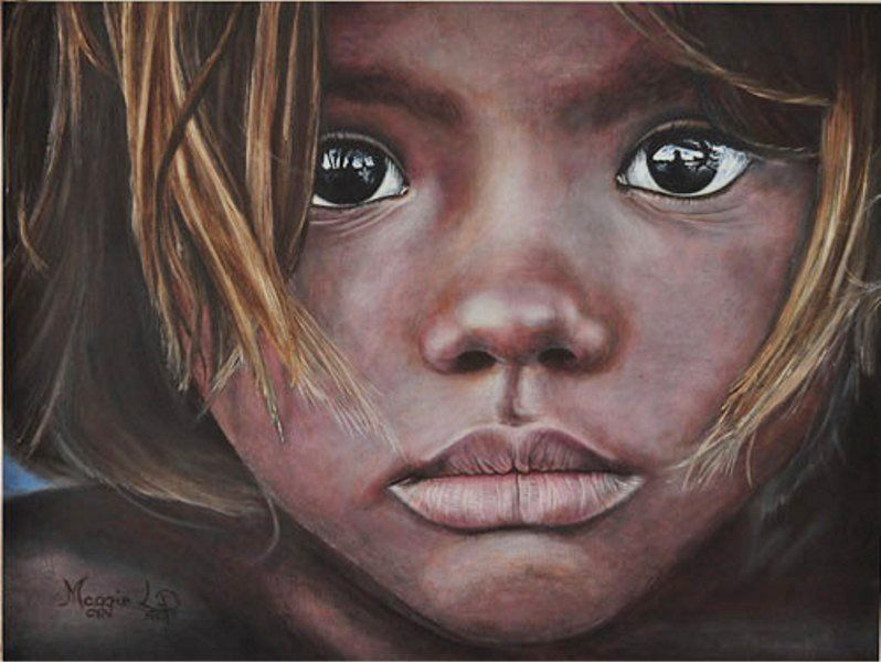 Arte Que Te Dejara Impresionado Caritas Pintadas Pintando Retratos Rostros Pinturas