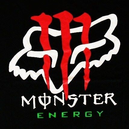 monster and fox pictures monster energy fox t shirt black dc shoes rh pinterest ie Cool Monster Logos Monsters Ink Logo