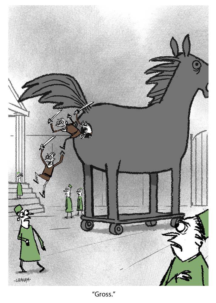 Trojan Horse Attack Mitologia Troya Caballo De Troya