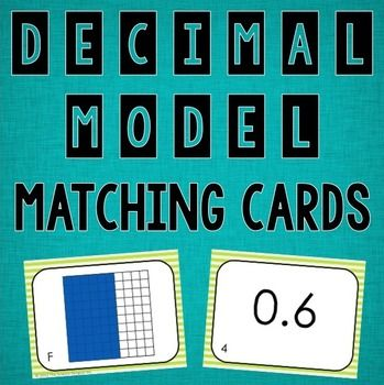Students match the decimal models to the number decimals. This file ...