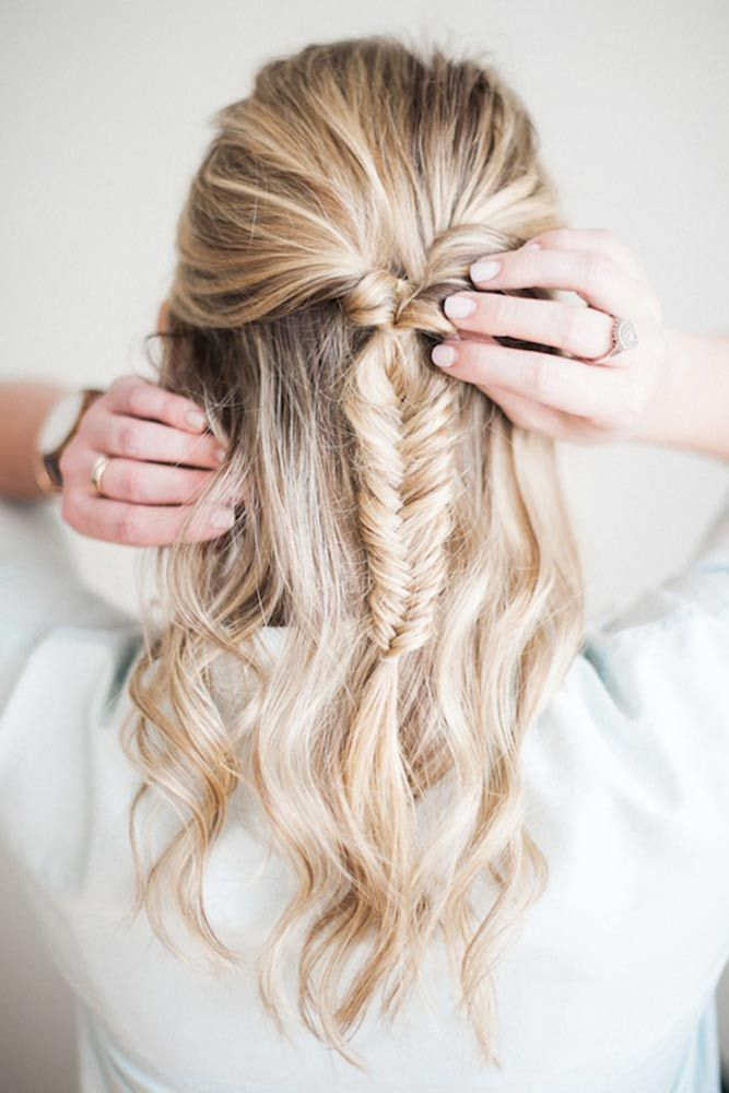 39 Cute Braided Hairstyles You Cannot Miss Fishtail Braid Hairstyles Medium Length Hair Styles Hair Styles