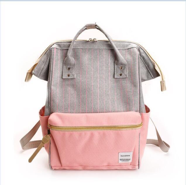 5b6c3485fcaa 2019 New Canvas Printing Backpack Women School Bag Teenage Girls ...