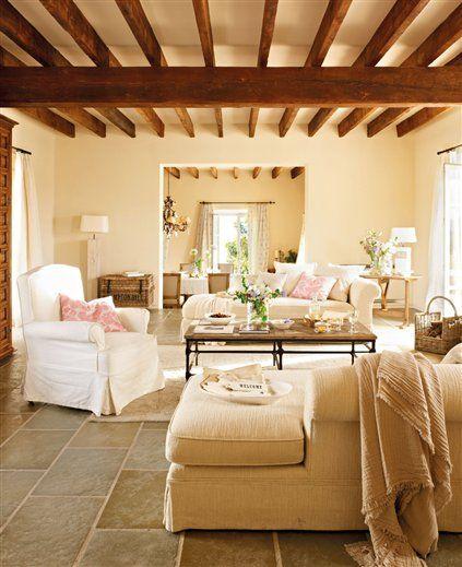 Casa de campo tradicional por fuera c moda por dentro - El mueble casas de campo ...