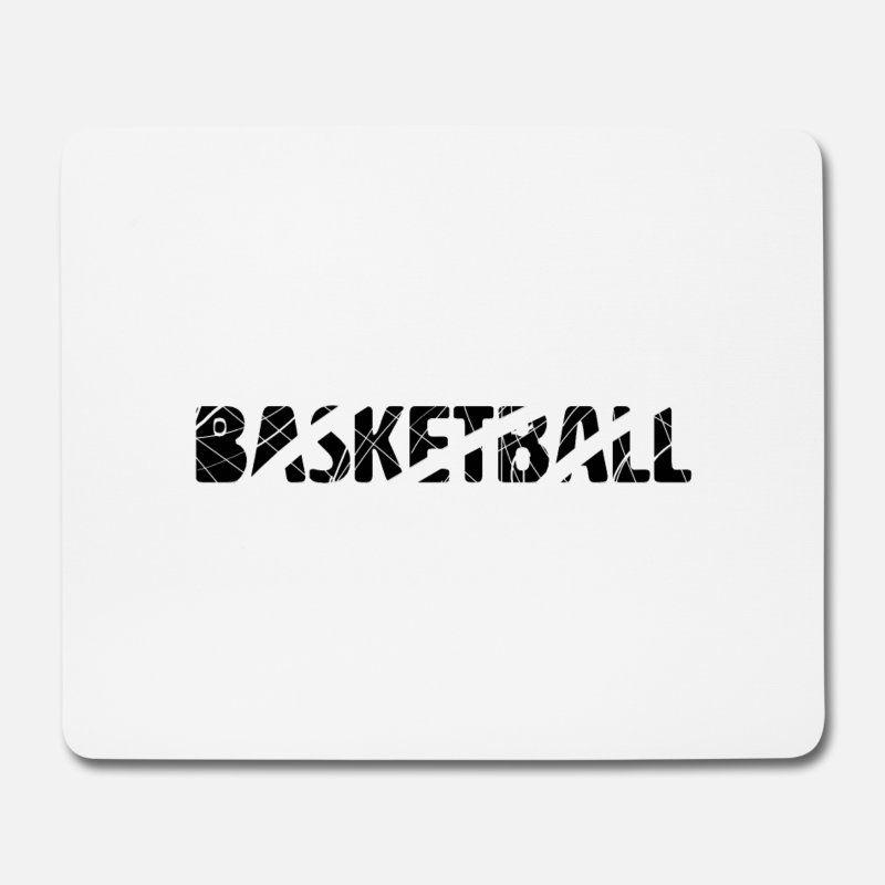 basketball mousepad (querformat) - weiß | basketball