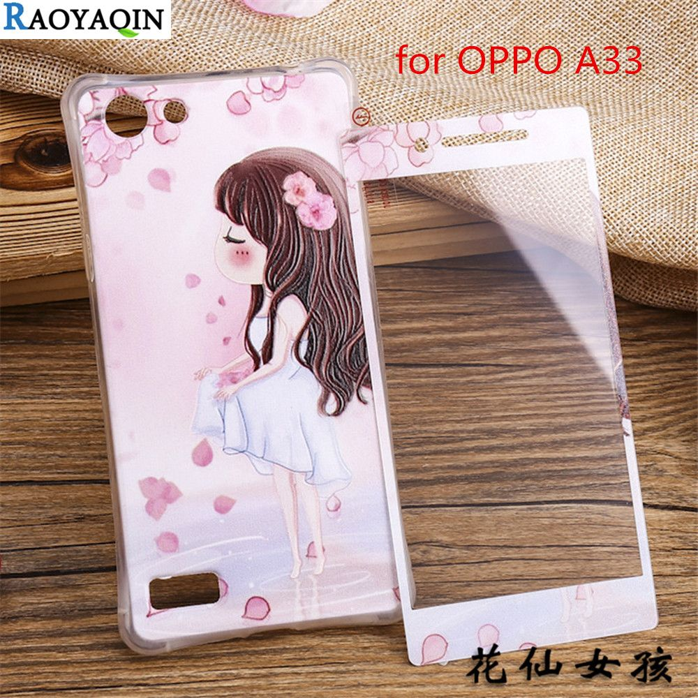 3d Cartoon Relief Lovely Girl Print Soft Silicon Tempered Glass Silikon Stitch For Xiaomiredmi3s