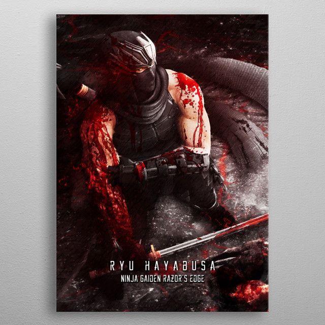 Ninja Gaiden razors edge metal poster   Displate thumbnail