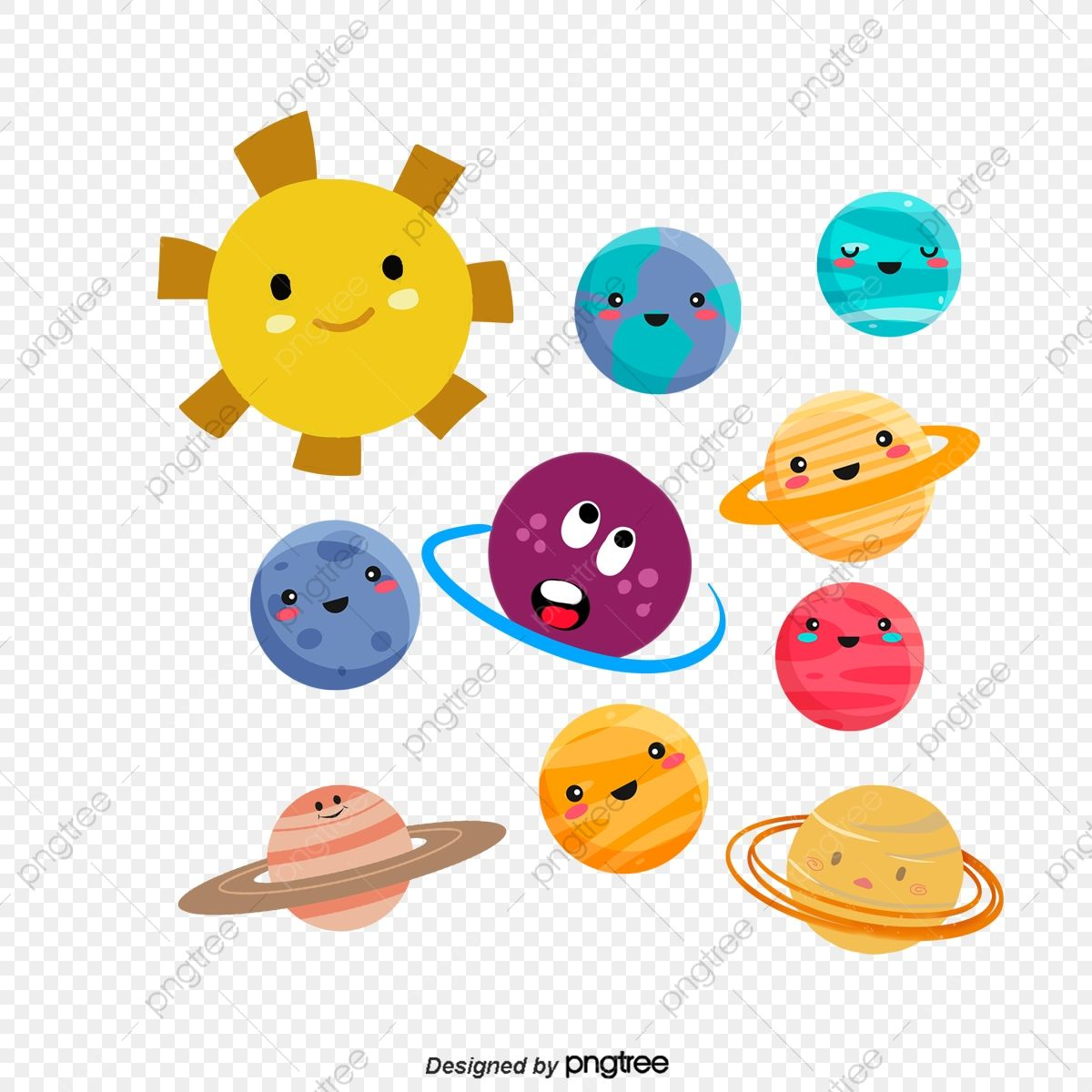 Cartoon Sun And Nine Planets Sun Clipart Hand Painted Illustration Illustration Png Transparent Clipart Image And Psd File For Free Download Cartoon Sun Graphic Resources Clip Art