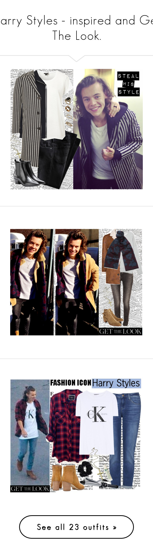 """Harry Styles - inspired and Get The Look."" by francesca-valentina-gagliardi ❤ liked on Polyvore featuring Topshop, Boutique, Yves Saint Laurent, Iva, ASOS, ALDO, IRO, Zara, MANGO and Burberry"