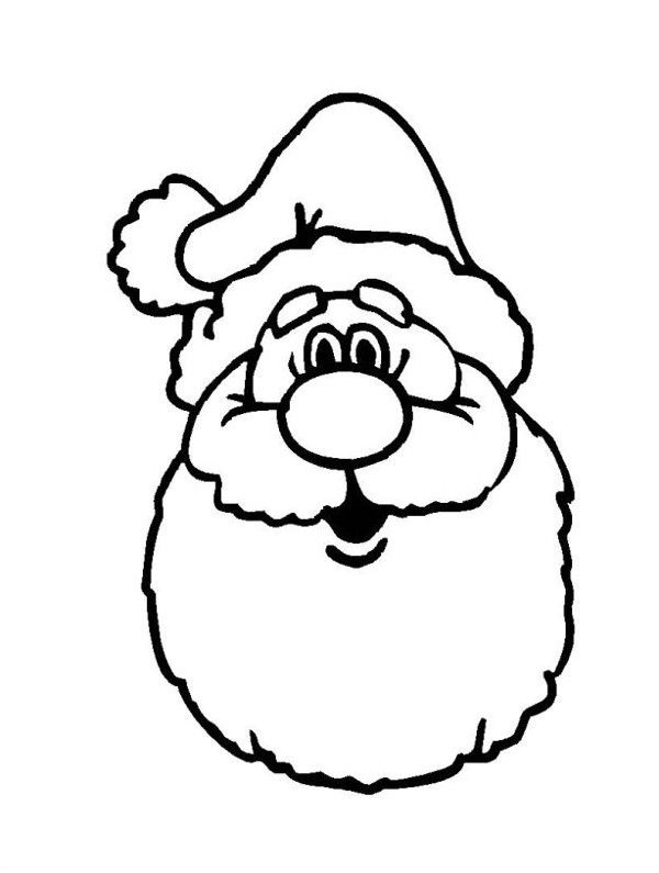 free printable santa face santa claus ho ho ho face to coloring for kids christmas free coloring