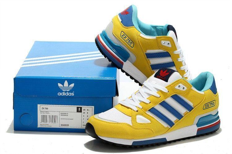 adidas zx 750 weis blau gelb