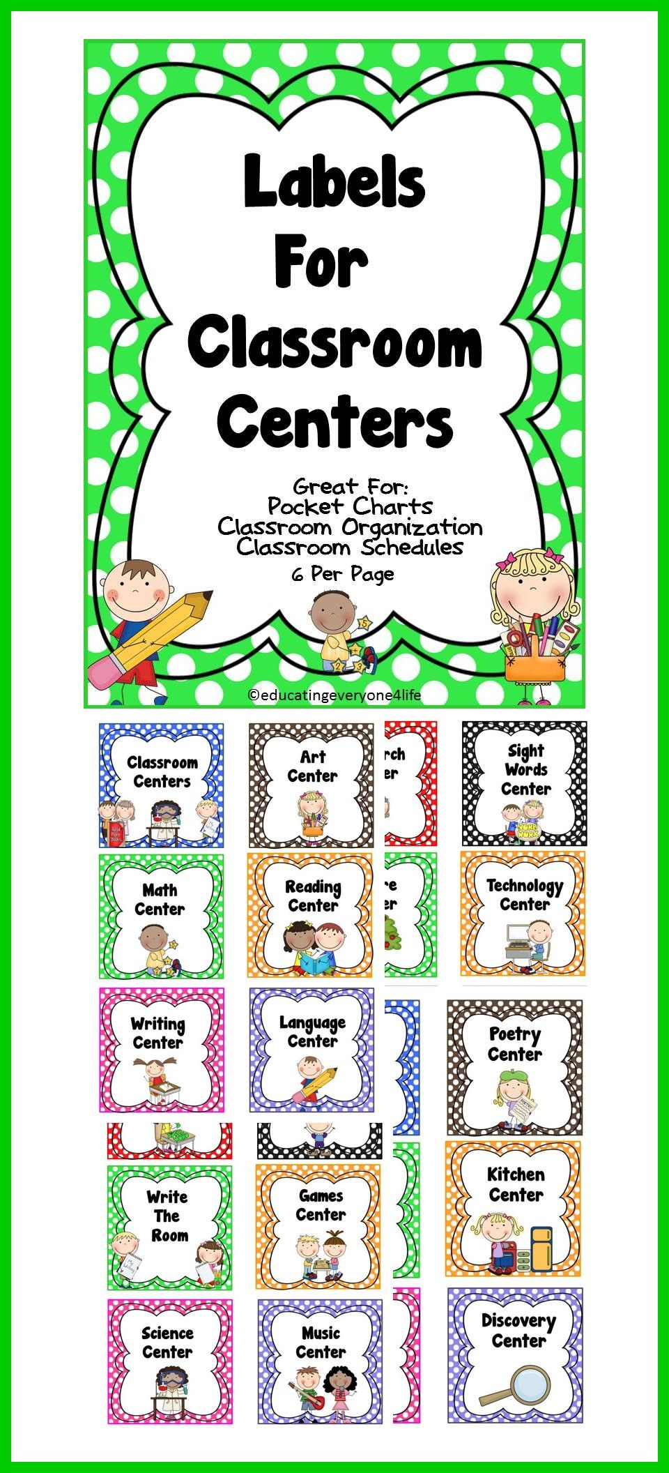 Classroom Labels | Classroom organization, Organizations and Chart