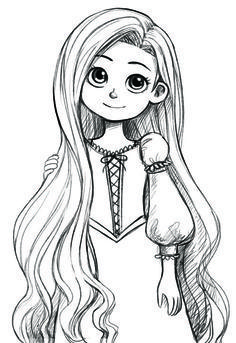 Dibujos A Lapiz Rapunzel Buscar Con Google Disney Princess Drawings Rapunzel Drawing Princess Drawings