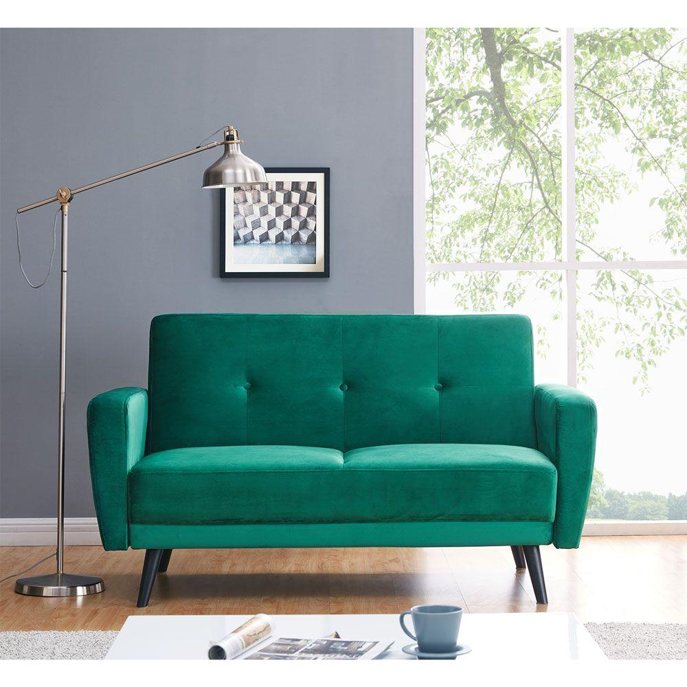 Pleasant Esben 2 Seater Velvet Sofa Bed Dark Forest Green In 2019 Machost Co Dining Chair Design Ideas Machostcouk