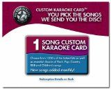 1 Song All Star Karaoke Custom Karaoke Card