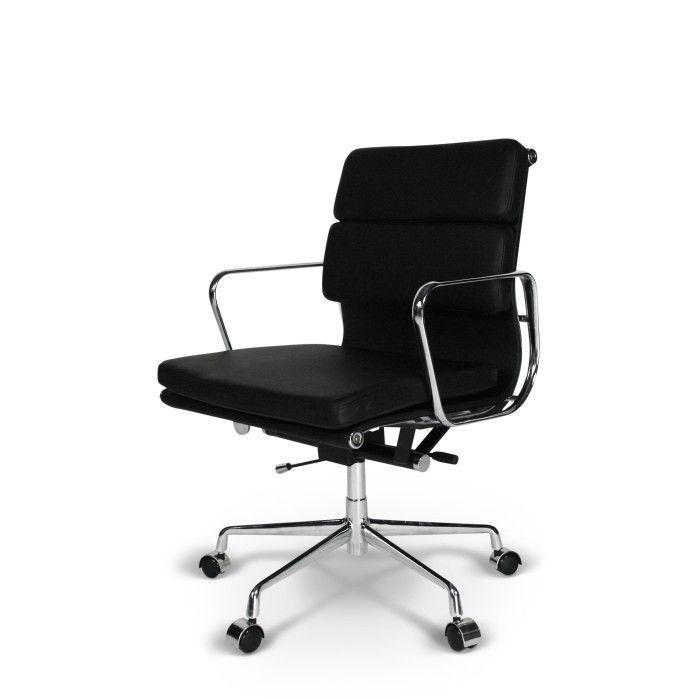 Pop Chaise De Bureau Ea 217 Noir Cuir Chaise Bureau Eames Fauteuil Bureau
