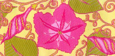 Lime with Pink Flowers and Green Leaves Woven Trim - # LFNT-107 col. 2 Pink – Piecemakers Country Store Online Store  ribbonwork ribbon work