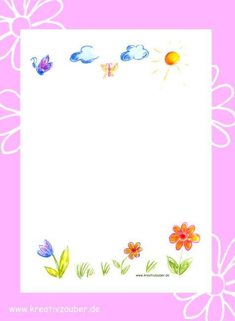 Briefpapier kinder briefpapier ausdrucken und niedlich - Briefpapier vorlagen kostenlos ...