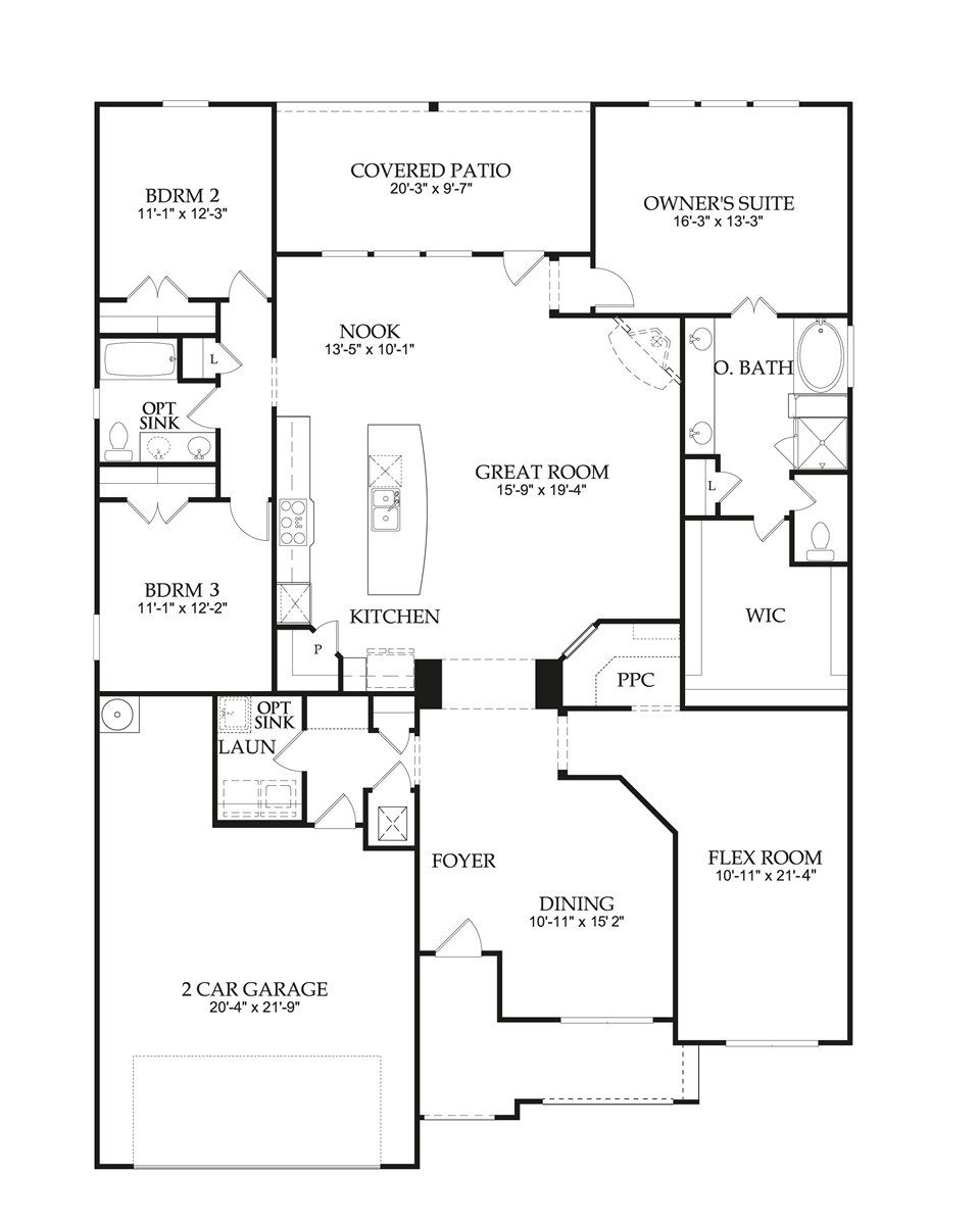 Floor Plan Grantham New Home In Pearson Place At Avery Ranch Part 23
