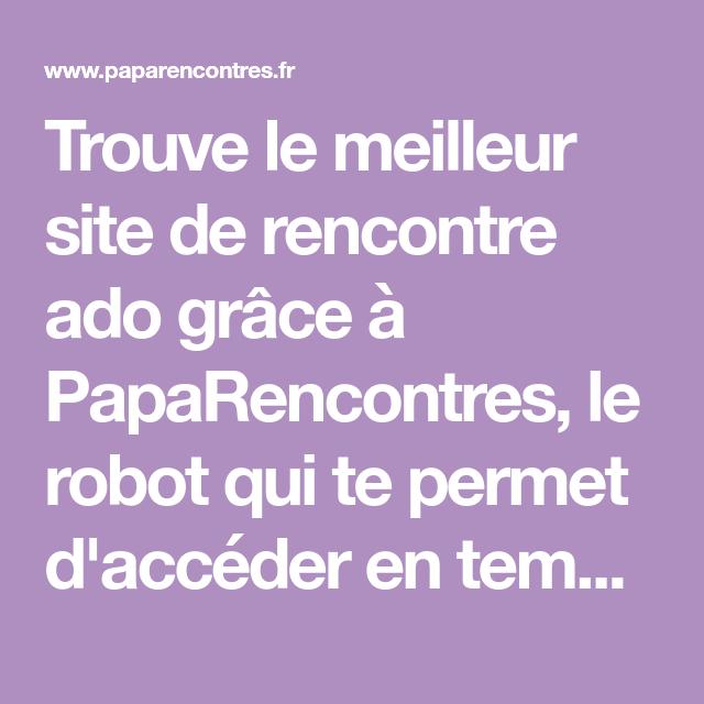 robot site de rencontre