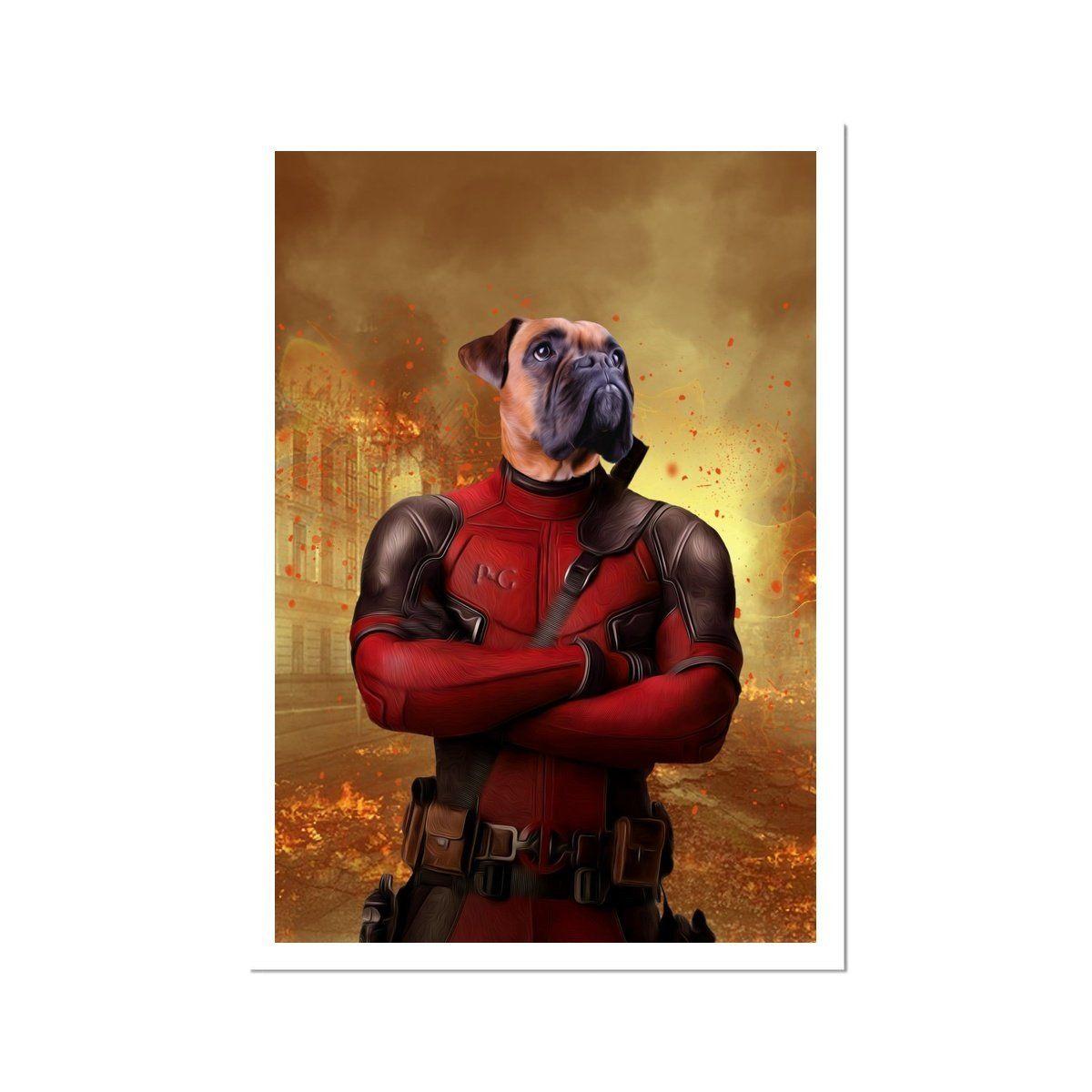 The Deadpawl: Custom Pet Poster - A3 Portrait