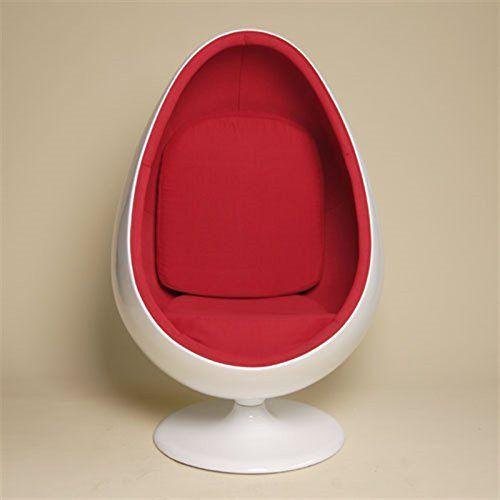 retro pod egg chair swivel lounge  office  living room