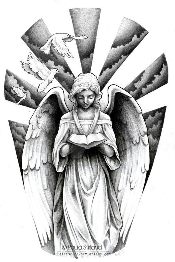 Angel De La Muerte Dulce Compania Tatuajes De Angel Para Hombres Disenos De Tatuaje De Angel Tatuajes Religiosos