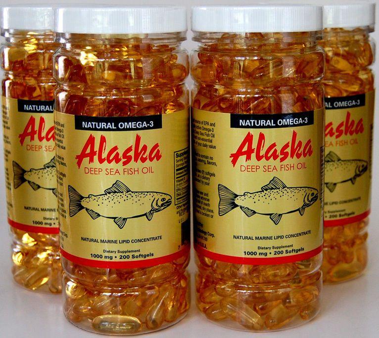 4x Omega 3 Epa Dha Alaska Deep Sea Fish Oil 800caps On