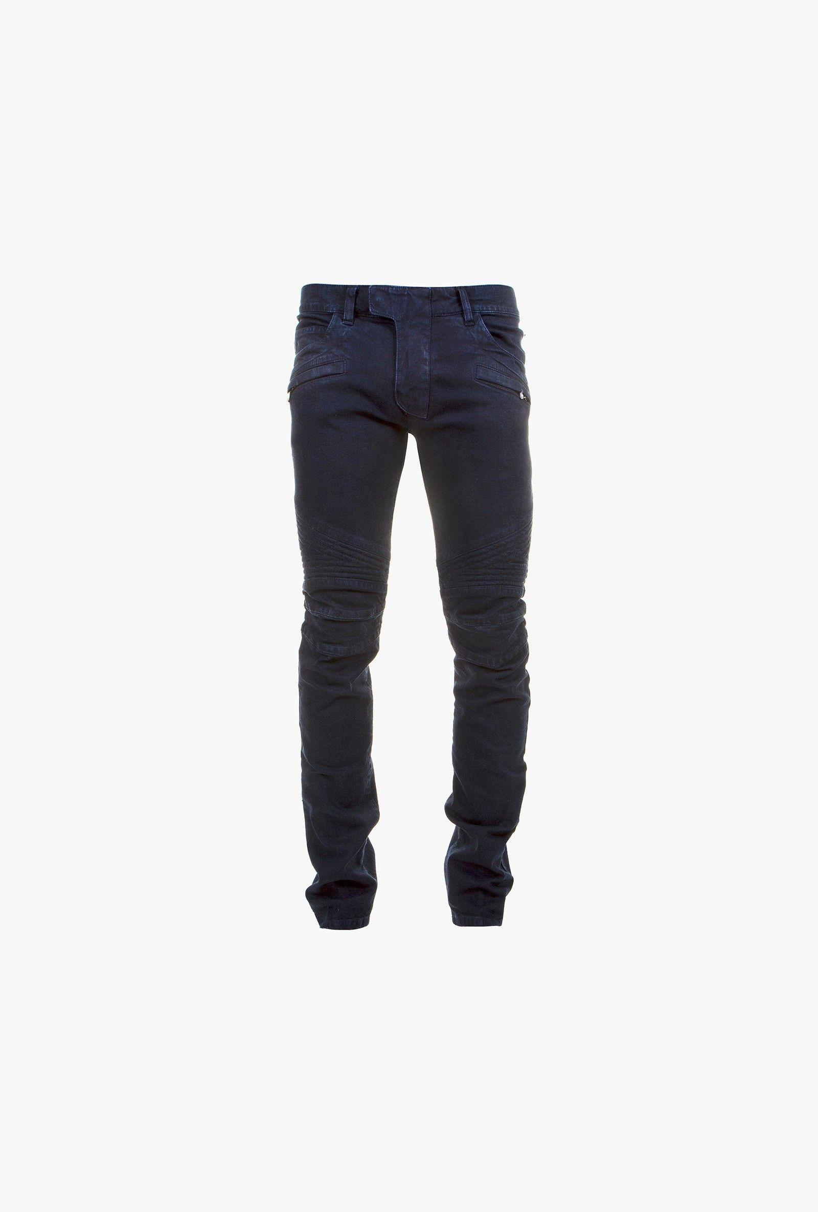 temperament shoes quality design buying new Balmain - Jean brut slim style biker - jeans biker homme ...