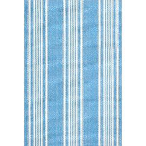 Sail Stripe Blue Woven Cotton Rug