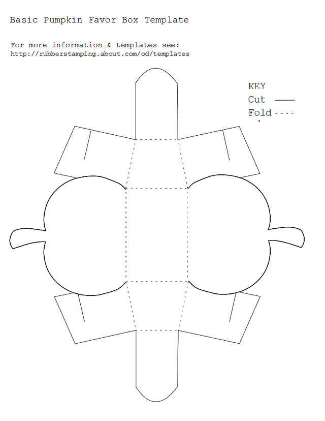 Free Printable Basic Pumpkin Favor Box Template   Box templates ...